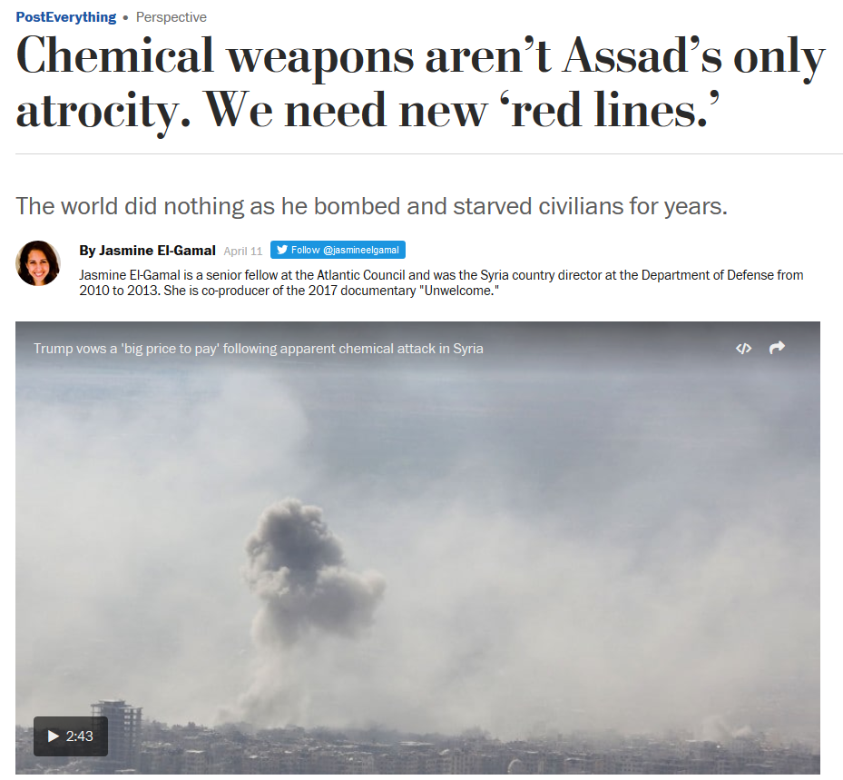 WaPo: Chemical Weapons Aren't Assad's Only Atrocity