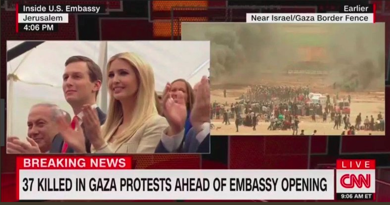 CNN: 37 Killed in Gaza Protests Ahead of Embassy Opening