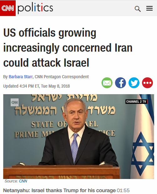 CNN: US Officials Growing Increasingly Concerned Iran Could Attack Israel