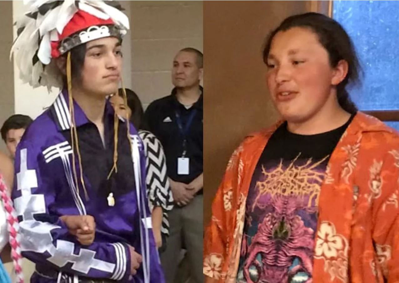 Thomas Kanewakeron Gray and Lloyd Skanahwati Gray, Mohawk brothers pulled from a Colorado State college tour (image: Indian Country Today)