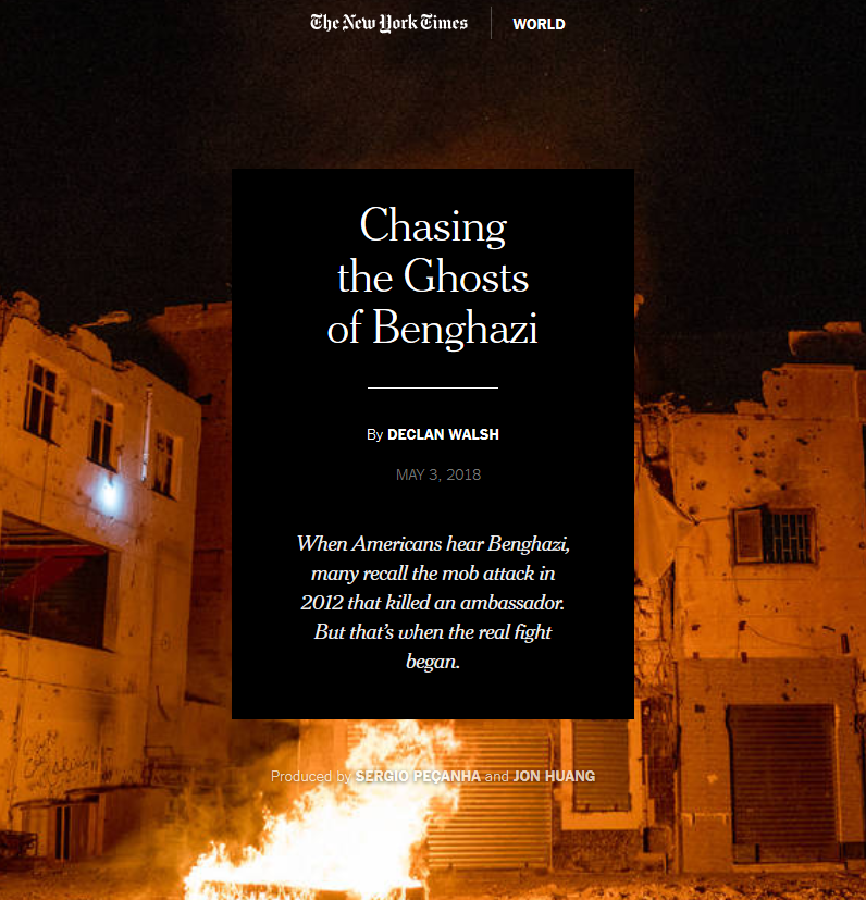 NYT: Chasing the Ghosts of Benghazi