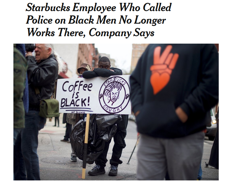 NYT: Starbucks Employee Who Called Police on Black Men No Longer Works There, Company Says