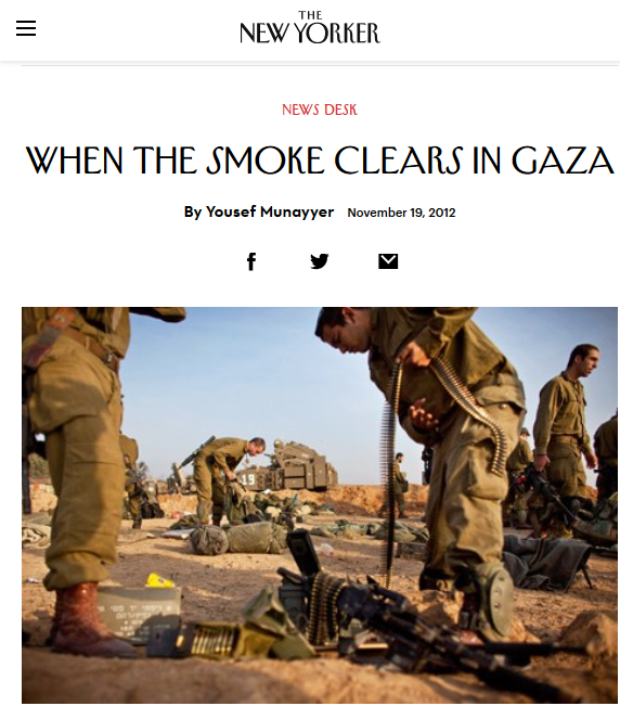 New Yorker: When the Smoke Clears in Gaza