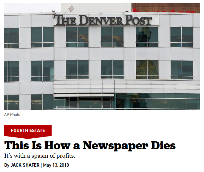 Politico: This Is How a Newspaper Dies