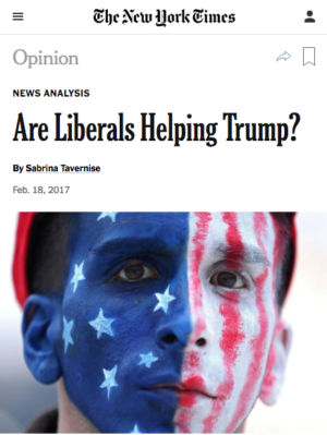 NYT: Are Liberals Helping Trump?