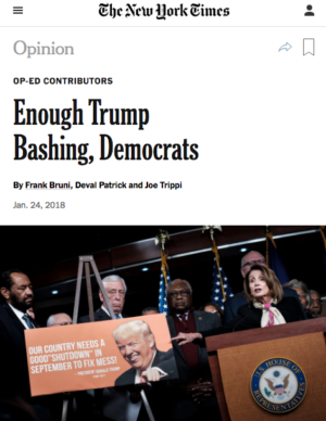 NYT: Enough Trump Bashing, Democrats