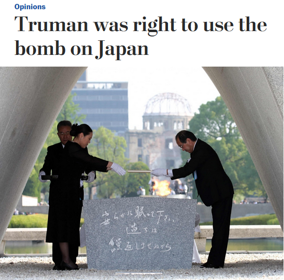 WaPo: Truman Was Right to Use the Bomb on Japan