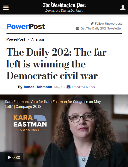 WaPo: The Far Left Is Winning the Democratic Civil War