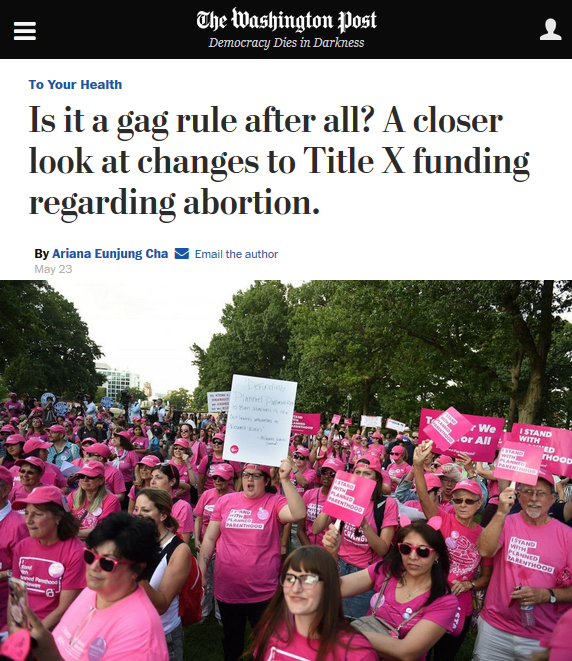 WaPo: Is It a Gag Rule After All