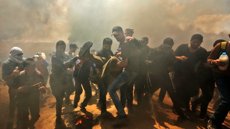 Washington Post depiction of Gaza protests (photo: Joyce Lee/Washington Post)