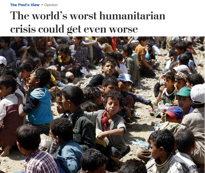 WaPo: The world's worst humanitarian crisis could get even worse