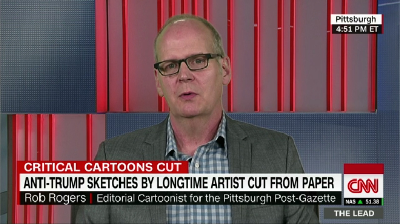 CNN: Anti-Trump Sketches by Longtime Artist Cut From Paper