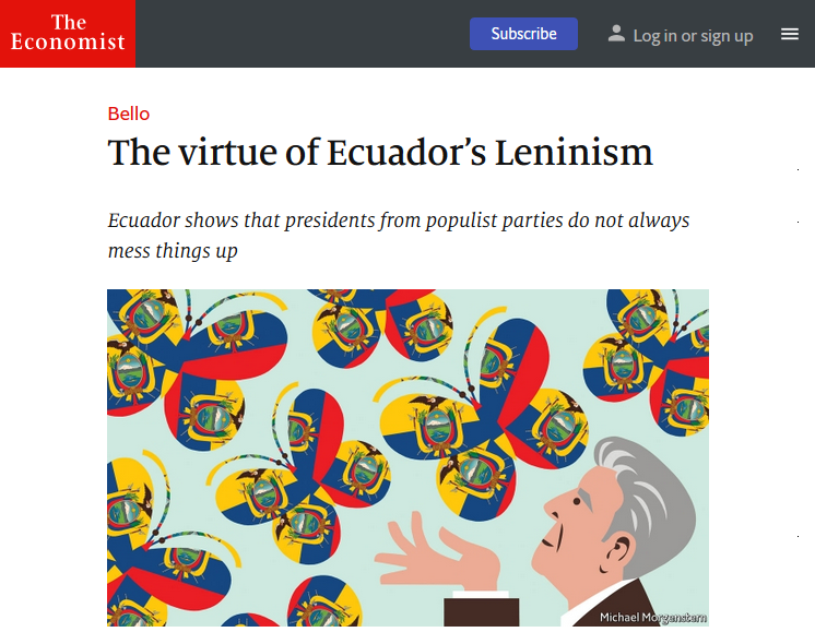Economist: The Virtue of Ecuador's Leninism