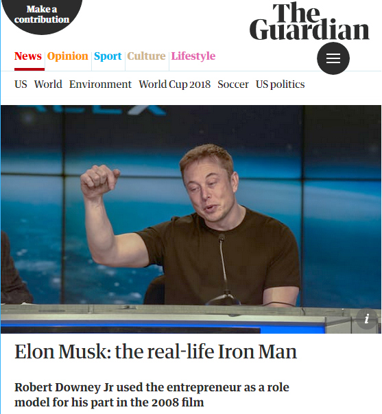 Guardian: Elon Musk: The Real-Life Iron Man