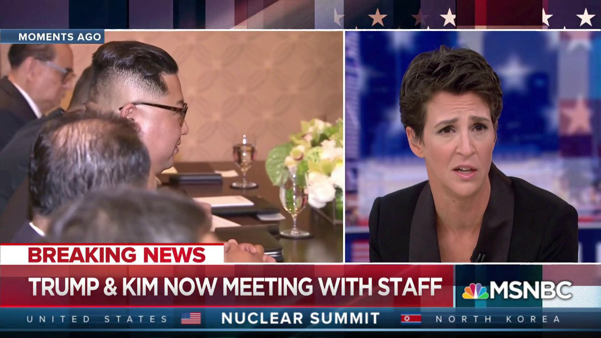MSNBC: Trump & Kim Now Meeting With Staff