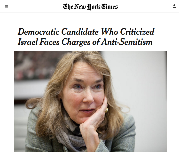NYT: Democratic Candidate Who Criticized Israel Faces Charges of Antisemitism