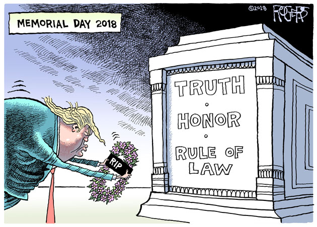 Rob Rogers: Memorial Day 2018