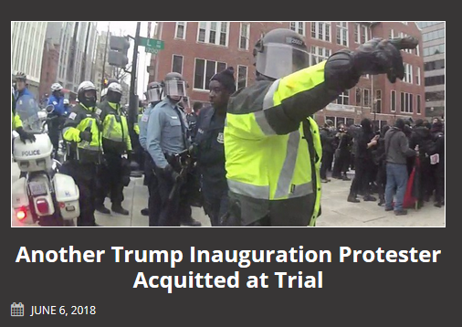 Unicorn Riot: Another Trump Inauguration Protester Acquitted at Trial