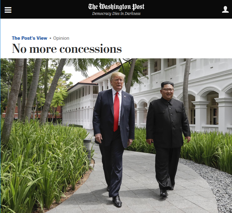 WaPo: No More Concessions