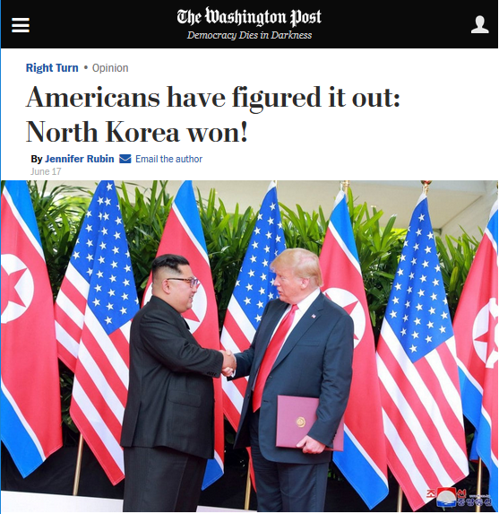 WaPo: Americans Have Figured It Out: North Korea Won!