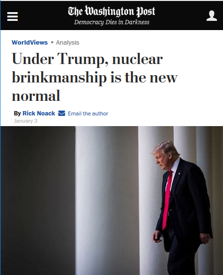 WaPo: Under Trump, Nuclear Brinkmanship Is the New Normal