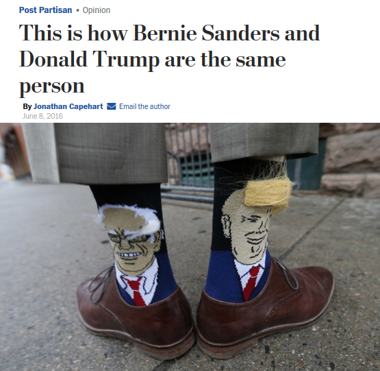WaPo: This is how Bernie Sanders and Donald Trump are the same person