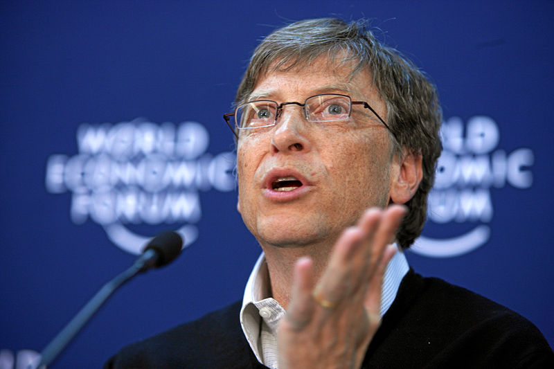 Bill Gates (cc photo: World Economic Forum/Andy Mettler)