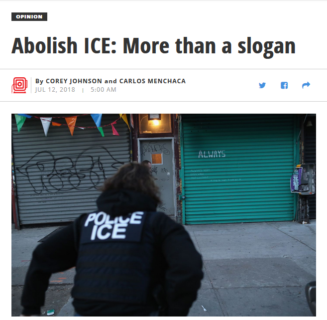 Daily News: Abolish ICE: More Than a Slogan