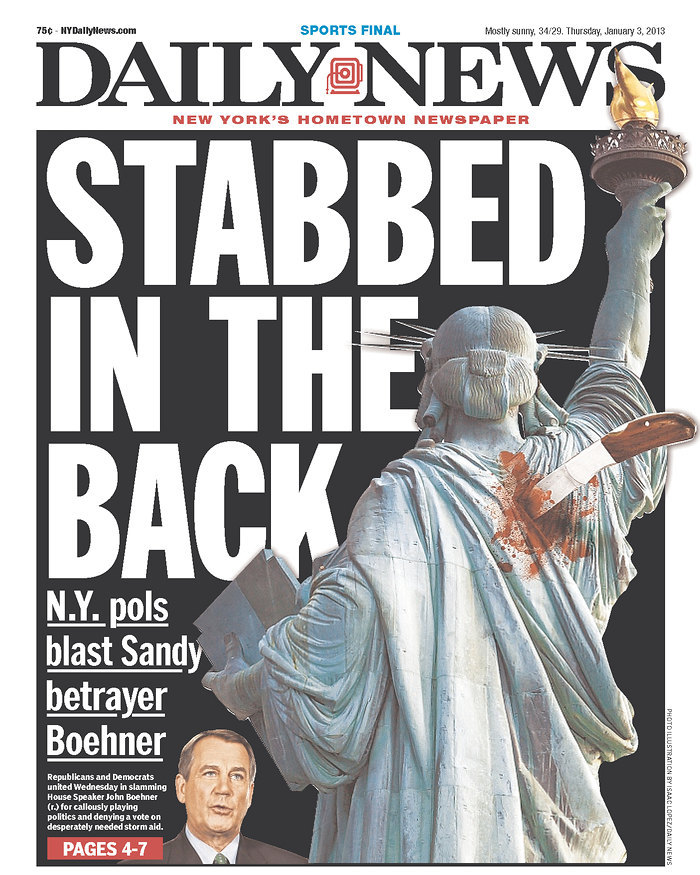 Daily News: Stabbed in the Back