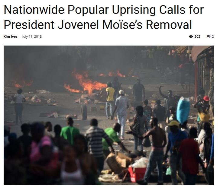 Haiti Liberte: Nationwide Popular Uprising Calls for President Jovenel Moïse's Removal
