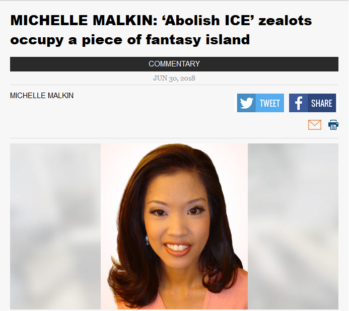 News-Sentinel: Abolish ICE Zealots Occupy a Piece of Fantasy Island