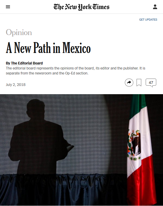 NYT: A New Path in Mexico