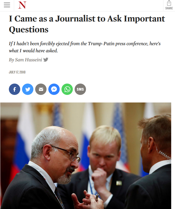 The Nation: I Came as a Journalist to Ask Important Questions