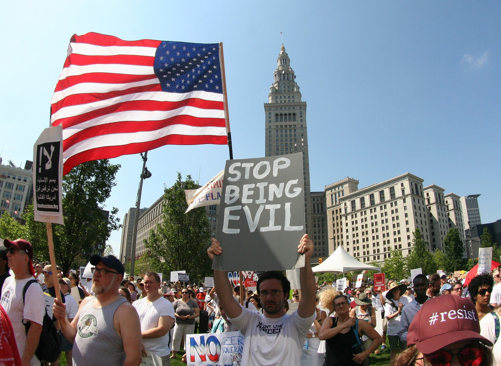 Family Separation protest, Cleveland (cc photo: Vince Reinhart)