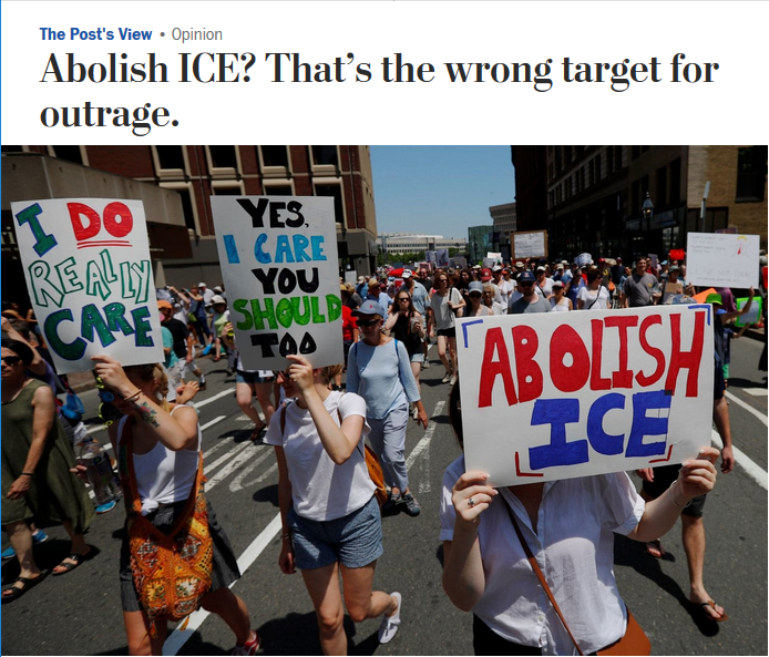 WaPo: Abolish ICE? That's the Wrong Target for Outrage