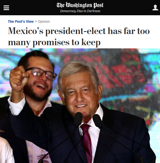 WaPo: Mexico's president-elect has far too many promises to keep