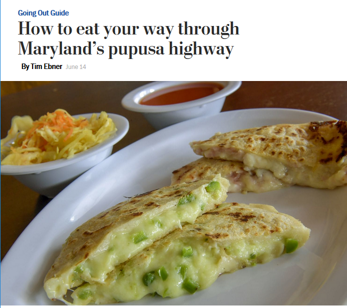 WaPo: How to eat your way through Maryland's pupusa highway