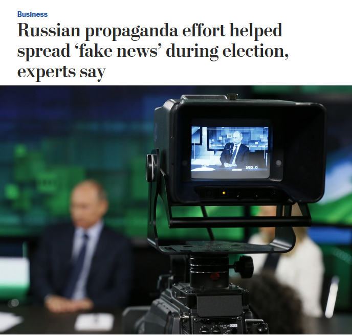 WaPo: Russian propaganda effort helped spread 'fake news' during election, experts say