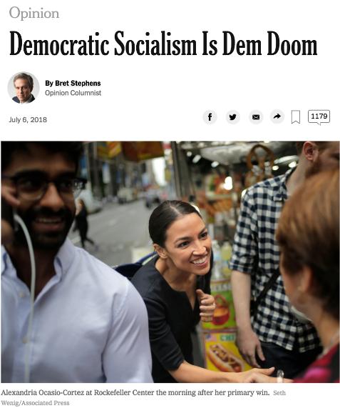 NYT: Democratic Socialism Is Dem Doom