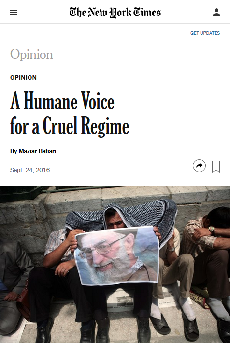 NYT: A Humane Voice for a Cruel Regime