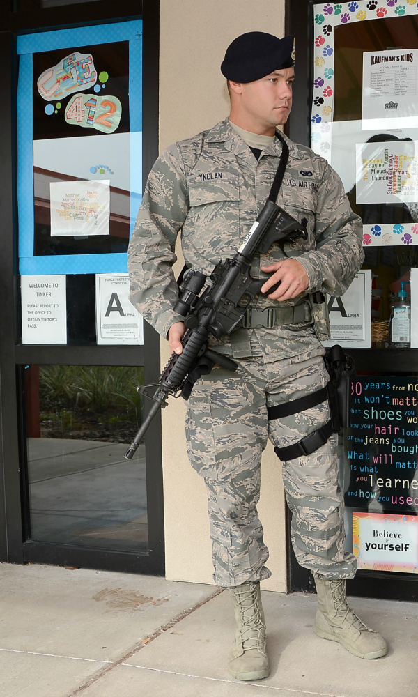 Active shooter exercise, elementary school (photo: USAF/David Tracy)
