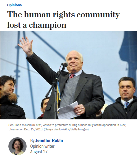 WaPo: The human rights community lost a champion