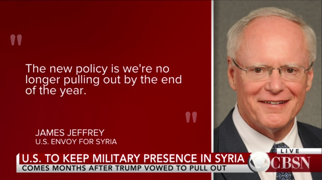 CBS: US to Keep Military Presence in Syria