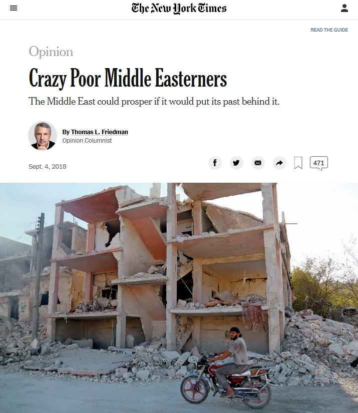 NYT: Crazy Poor Middle Easterners