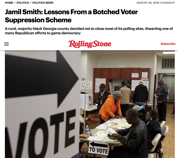 Rolling Stone: Lessons From a Botched Voters Suppression Scheme