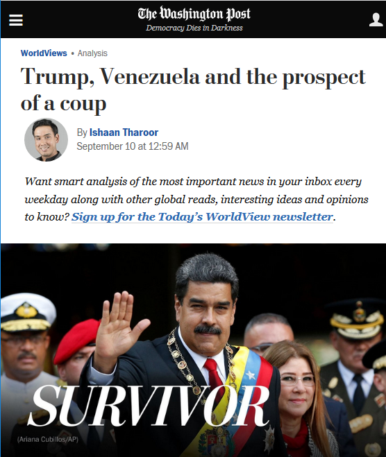 WaPo: Trump, Venezuela and the prospect of a coup