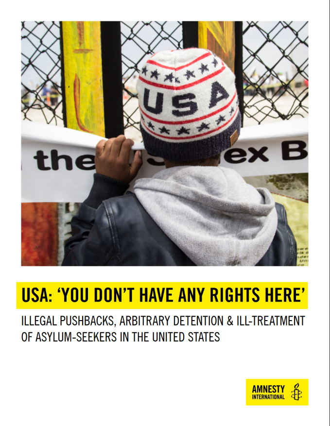 Amnesty International: USA: 'You Don't Have Any Rights Here'