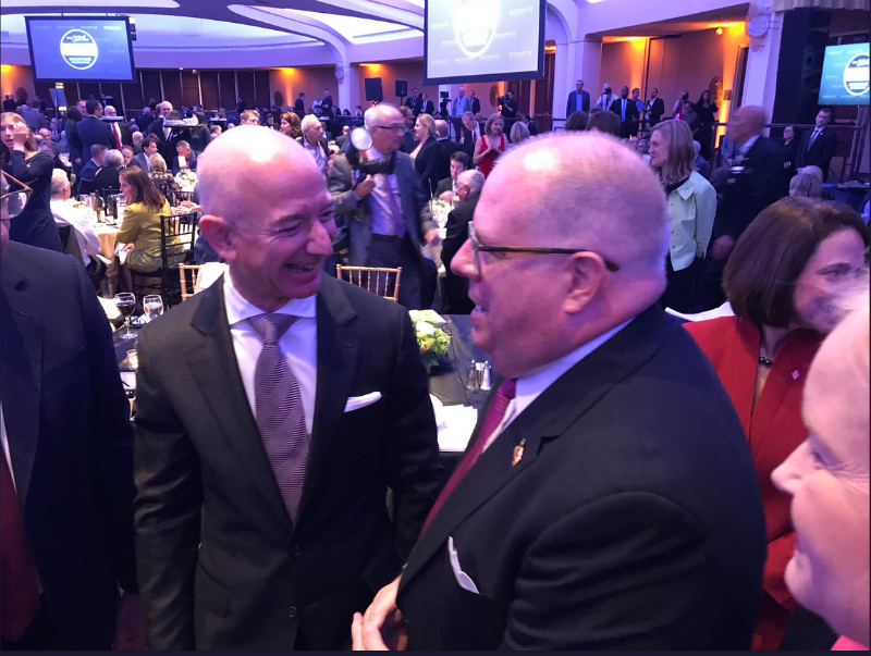 Jeff Bezos meeting with Larry Hogan
