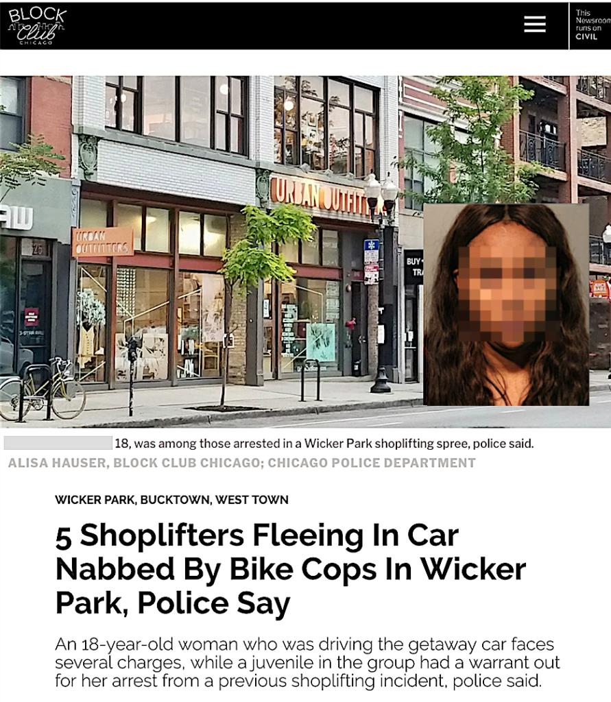 Block Club: 5 Shoplifters Fleeing in Car Nabbed by Bike Cops in Wicker Park, Police Say