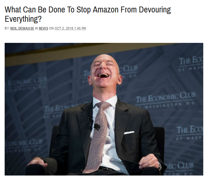 Gothamist: What Can Be Done To Stop Amazon From Devouring Everything?